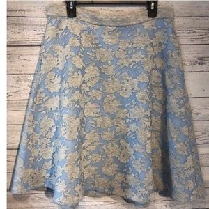 Catherine malandrino full skirt gray and blue 12